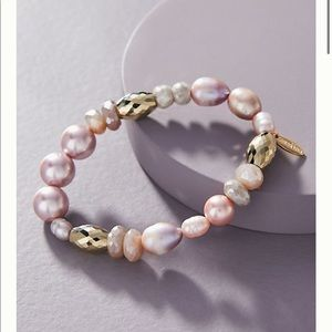 Anthropologie PORTER PEARL STRETCH BRACELE